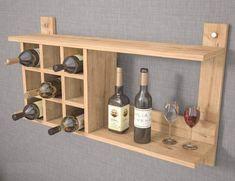Pallet Ideas Easy, Diy Pallet Projects, Wood Projects, Wall Mounted Tv Unit, Contemporary Wine Racks, Wine Bottle Storage, Wine Bottles, Rustic Wine Racks, Rack Design