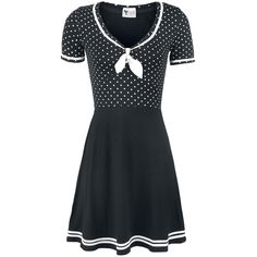 Sailor Dotties - Mittellanges Kleid von Pussy Deluxe
