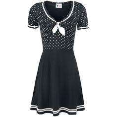 Sailor Dotties - Medium-lengte jurk van Pussy Deluxe