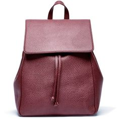 Sole Society Iver Vegan Drawstring Backpack ($60) ❤ liked on Polyvore featuring bags, backpacks, oxblood, faux leather drawstring backpack, faux leather bag, fake leather backpack, drawstring backpack bags and purple backpack