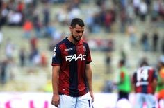 Mattia Destro # 10 of Bologna FC looks dejected at the end of the Serie A match between Bologna FC and Genoa CFC at Stadio Renato Dall'Ara on October 2, 2016 in Bologna, Italy.