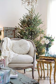 Christmas Home Tour 2014...A Vintage Inspired Holiday Season...Part One