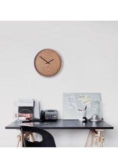 Madera Wall Clock Natural/Nickel