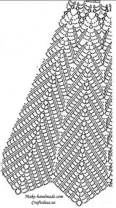 crochet charming lace skirt and dress diagram