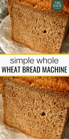 This Whole Wheat Bread Machine Recipe is super easy to make. The best part is that it doesnt contain lots of chemicals ingredients like the one we usually get in the supermarkets. Low Calorie Bread Machine Recipe, Easy Bread Machine Recipes, Best Bread Machine, Bread Maker Recipes, Easy Bread Recipes, Delicious Recipes, Whole Grain Bread Machine Recipe, Best Whole Grain Bread, Cooking Bread