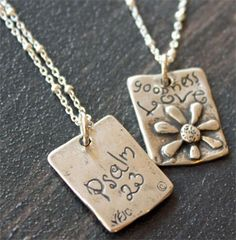 Goodness & Love Sterling Necklace -- ChristianGiftsPlace.com Online Store