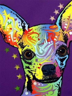 chihuahua art. is it lame that I would actually hang something like this in an art collage?