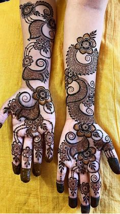 Short Mehndi Design, Khafif Mehndi Design, Floral Henna Designs, Full Hand Mehndi Designs, Henna Art Designs, Mehndi Designs For Girls, Mehndi Designs 2018, Mehndi Designs For Beginners, Stylish Mehndi Designs