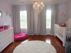 Project Nursery - Hot Pink and Gray Elegant Girl Nursery Front View