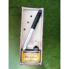 Vintage Flo-Master marker pen του 1955-1960 στο αυθεντικό του κουτί με το μελάνι του, αχρησιμοποίητο.