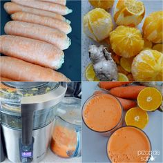 Jugo de zanahoria, naranja y jengibre | http://www.pizcadesabor.com/2014/05/02/jugo-de-zanahoria-naranja-y-jengibre/