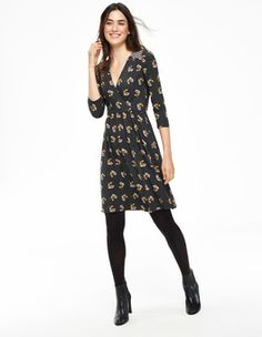 Glenda Dress (Raven Thirties Floral)