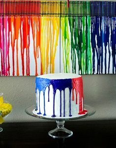 Dripping Colors Birthday Cake Picture