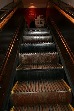 Wooden Escalator in Macys Log Home Mom: Store Windows at Christmas Time, NYC Final Day….