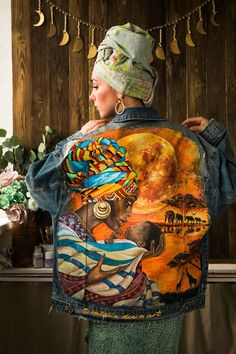 Mama Africa ❤️ See my new handpainted jacket, guys! It's never too late to celebrate .