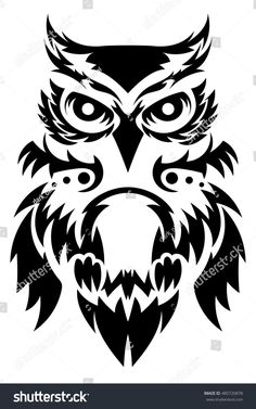 Please check more! Awesome How I Successfuly Organized My Very Own Owl Tattoo Vector Tribal Animal Tattoos, Tribal Animals, Tribal Sleeve Tattoos, Wing Tattoos, Owl Tattoo Design, Angel Tattoo Designs, Tribal Tattoo Designs, Owl Stencil, Owl Facts