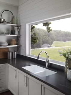 Karran Sinks Like the E-350 model. Double equal bowl, stainless, undermount, 18ga. Use with countertop mounted faucet. Works with laminate countertops!!!