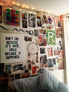 Wohnheim Zimmer Wand Deko Ideen #Wand
