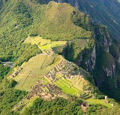 View of Manchu Picchu from above