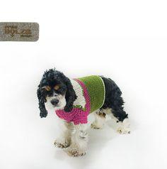 hochwertiger handgestrickter Hunde Trachten von fraubOLZadesign,