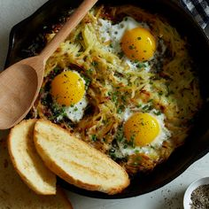 Who said you can only have breakfast in the morning? Check out this recipe for cheesy skillet hashbrowns and eggs to fulfill your breakfast food craving!