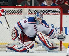 Henrik Lundqvist #30 of the New York Rangers  (Photo by Elsa/Getty Images)