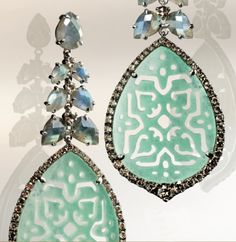 Annoushka Arabesque Carved Turquoise Earrings