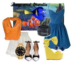 """""""Dory and Marlin"""" by ayely-webb on Polyvore featuring Jean Paul Gaultier Soleil, Givenchy, Rolex, Privileged, ABS by Allen Schwartz and Bling Jewelry"""