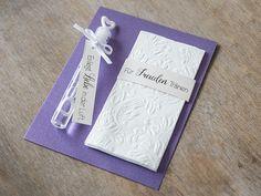 **Angeboten werden hier 10 Stück individualisierte Karten inkl. Taschentuch und Seifenblasen Piole im Format 10,5 x 13,5 cm zur Hochzeit.**   Aus hochwertigem, strukturierten Kreativkarton...