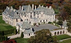 OHEKA Castle was built in Long Island in 1919 by millionaire financier Otto Herman Kahn, the inspiration for Mr. Monopoly. (From: Photos: 12 Amazing Castles You Won't Believe Are in America).