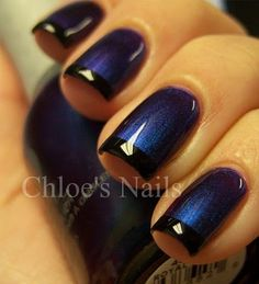 Chloe's Nails: Orly Royal Velvet gets funky...I love the elegance and subtlety of this one!