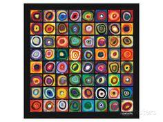 Farbstudie Quadrate Giclée-Premiumdruck von Wassily Kandinsky bei AllPosters.de