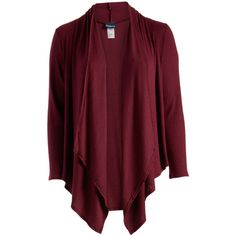 Hot Ginger Burgundy Ribbed Open Cardigan (60 ILS) ❤ liked on Polyvore featuring plus size women's fashion, plus size clothing, plus size tops, plus size cardigans, plus size, plus size red cardigan, burgundy cardigan, long red cardigan and plus size open front cardigan