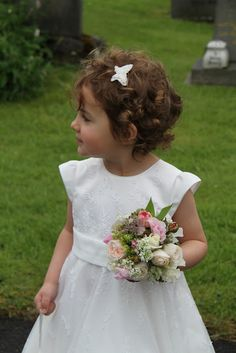 Rachel's beautiful bridal bouquets from the Bridal posy reducing in size to the little Flower Girl's posy, each bouquet included an individ...