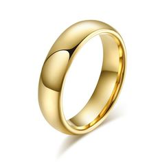 Classic Tungsten Carbide Ring Gold Plated Wedding Rings For Men Women USA Size Standard Oh just take a look at this! Beautiful Gifts, Beautiful Outfits, Ringe Gold, Fashion Accessories, Fashion Jewelry, Cute Jewelry, Men's Jewelry, Women Jewelry, Unisex