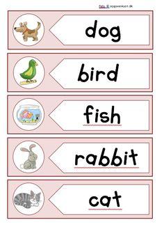 Opgaver engelsk, engelskopgaver indskoling, english worksheets
