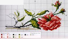 de gráfico para bordado ponto cruz com flor dicas de gráfico para ...