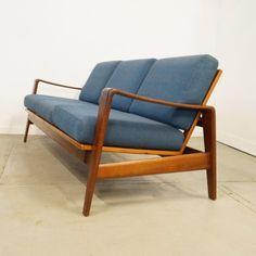 Arne Wahl Iversen; #35 Teak Sofa for Komfort Moebler, 1960s.