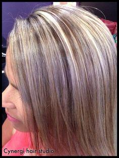 Blonde chocolate violet multi colour