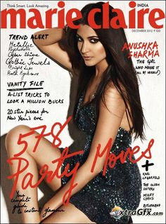 Anushka Sharma. Marie Claire India December 2012. Bollywood. Actresses.
