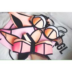 The Neoprene Bikini. Summer Swimwear, Bikini Swimwear, Swimsuits, Summer Of Love, Summer Time, Triangl Swim, Polka Dot Bikini, Summer Suits, Cute Bikinis
