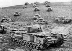 Churchill Mk II massed column. #worldwar2 #tanks