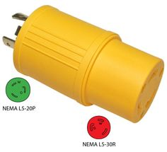 Conntek 30223-YW 3-Prong 20A to 3-Prong 30A Generator Plug Adapter. More info: http://conntek.com/products.asp?id=500
