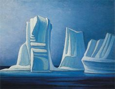 Lawren Harris Icebergs, Smith sound II, 1930 Group of Seven Canadian Painters, Canadian Artists, Group Of Seven Artists, Tom Thomson, Landscape Art, Landscape Paintings, 2d Art, Aboriginal Art, Famous Artists