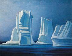 Lawren Harris (1885-1970), Icebergs, Smith sound II, 1930 Group of Seven
