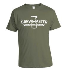 Brewmaster Homebrew Craft Beer TShirt by brewershirts on Etsy, $20.00