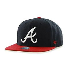 cc5d0f40002 MLB Atlanta Braves Sure Shot Two Tone Captain Adjustable Snapback Hat One  Size Navy