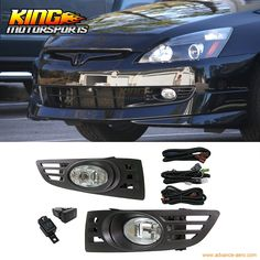 32.55$  Watch here - http://aligo5.shopchina.info/go.php?t=32733130375 - Fit For 2003-2005 Honda Accord 2Door Coupe JDM Clear Lens Fog Lights & Switch RH & LH USA Domestic Free Shipping Hot Selling  #SHOPPING