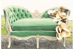 Green settee