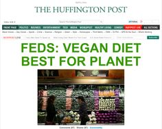WOW! Front Page of The Huffington Post right now! In BIG letters! Take THAT, Big Ag!! #MyVeganJournal